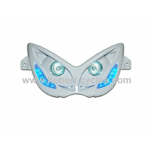 DOUBLE OPTIQ NITRO BLANC LEDS BLEU