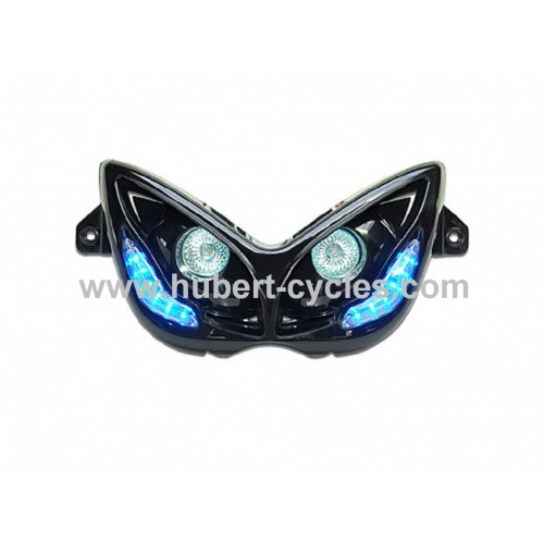 D OPTIQ REPLAY RR8 NOIR LEDS BLEU NITRO