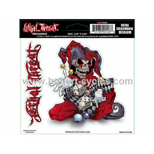 STICK LETHAL THREAT JESTER SKELETON15X14