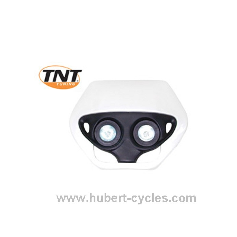 tete de fourche enduro halog double optic blanc