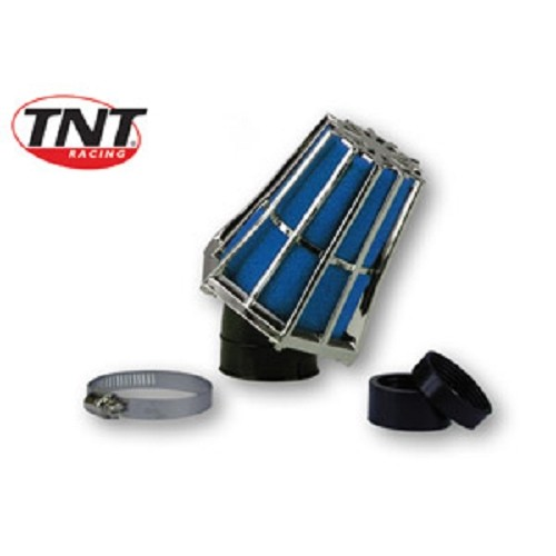 filtre a air tnt r-evolution d35/28 chrom/bleu