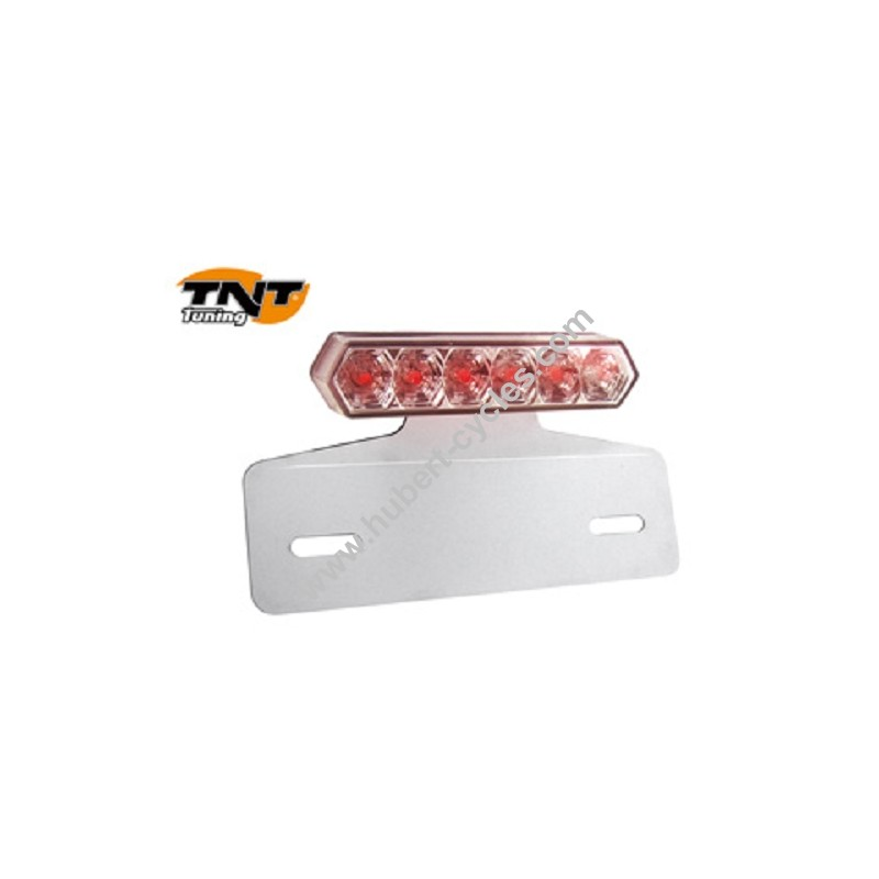 feu arriere barrette transp+support plaque homologue