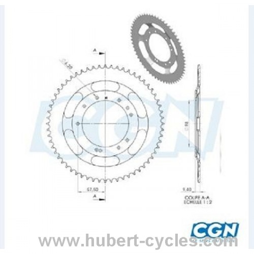 COURONNE CYCLO ADAPT. 51S 60DTS (D98)