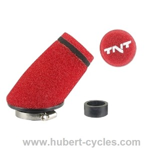 FILTRE A AIR TNT MOUSSE SMALL 30o ROUGE