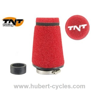 FILTRE A AIR TNT MOUSSE SMALL 90o ROUGE