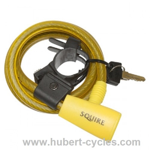 ANTIVOL SPIRAL A CLE SUPPORT D10MM JAUNE