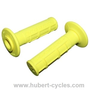 POIGNEES PROGRIP FLUO CROSS JAUNE 122MM