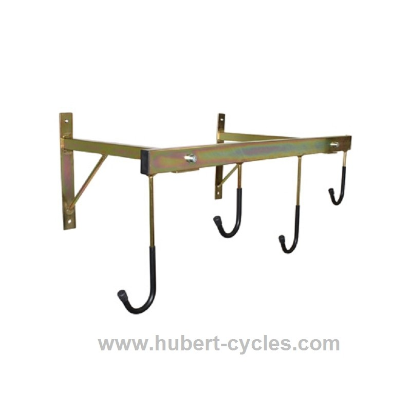 Achat support velo mural 4 velos 760x450 p2r hubert cycles - Support velo garage ...