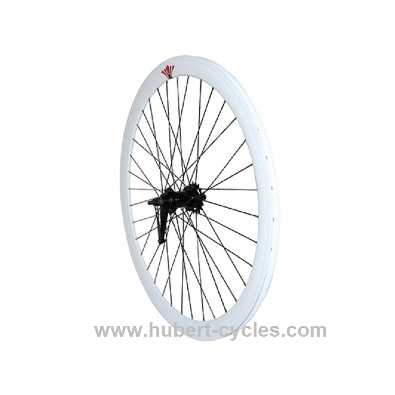 achat roue arriere retropedal fixie 43mm blanc p2r hubert cycles. Black Bedroom Furniture Sets. Home Design Ideas