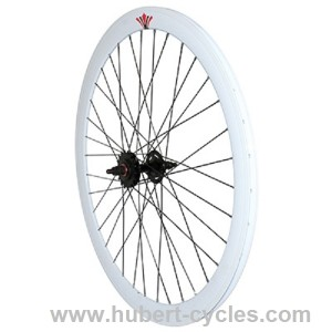 ROUE ARRIERE FIXIE 43MM BLANC