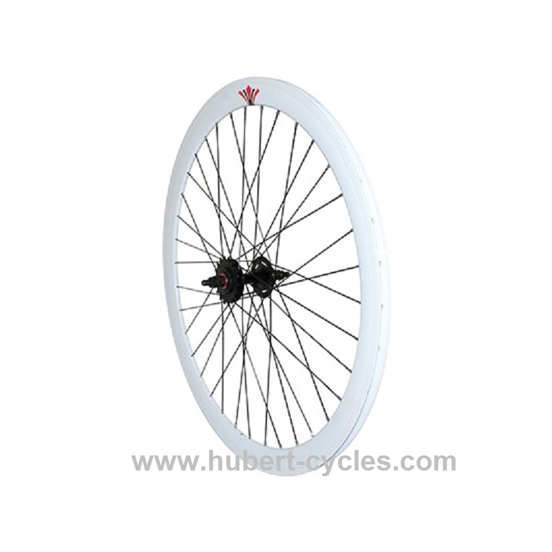 achat roue arriere fixie 43mm blanc p2r hubert cycles. Black Bedroom Furniture Sets. Home Design Ideas