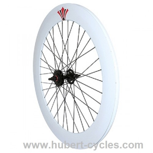 ROUE ARRIERE DOUBLE FIXIE 70MM BLANC