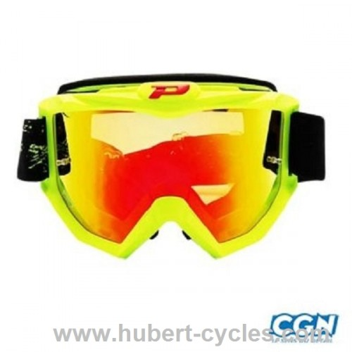 LUNETTE CROSS ANTI RAYURE ANTI UV JAUNE