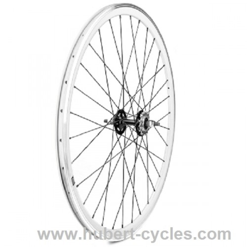 ROUE ARRIERE FIXIE BLANCHE 700C VELOX
