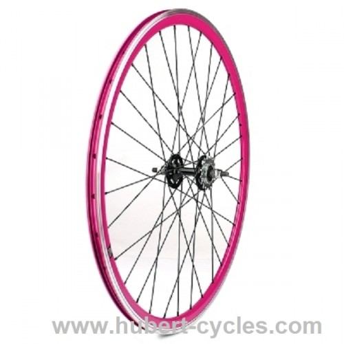 ROUE ARRIERE FIXIE ROSE VELOX 30MM