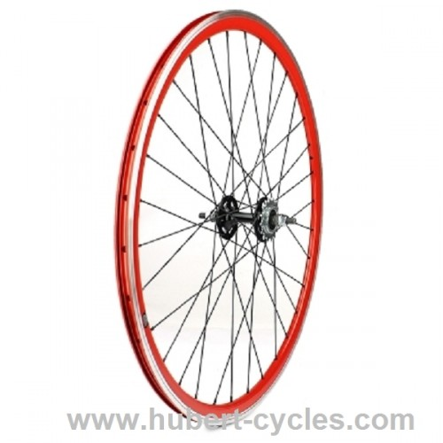 ROUE ARRIERE FIXIE ROUGE VELOX 30 MM