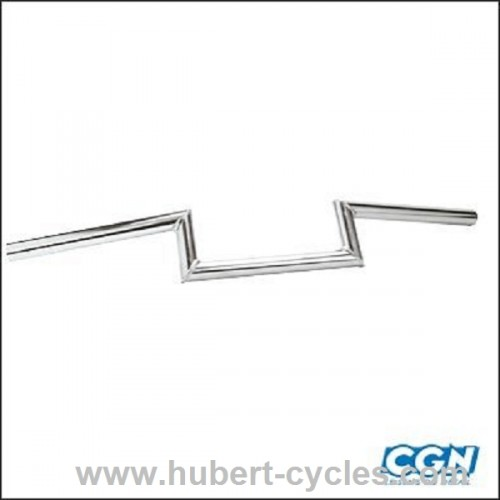 GUIDON CYCLO Z.BARRE LISSE H 5 CHROME