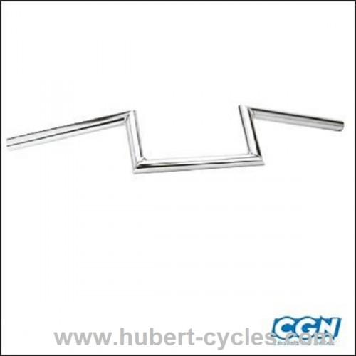 GUIDON CYCLO Z.BARRE LISSE H10 CHROME