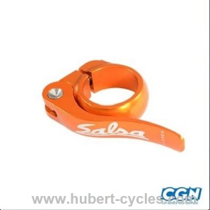 COLLIER DE SELLE BMX D30 ORANGE+SERRAGE