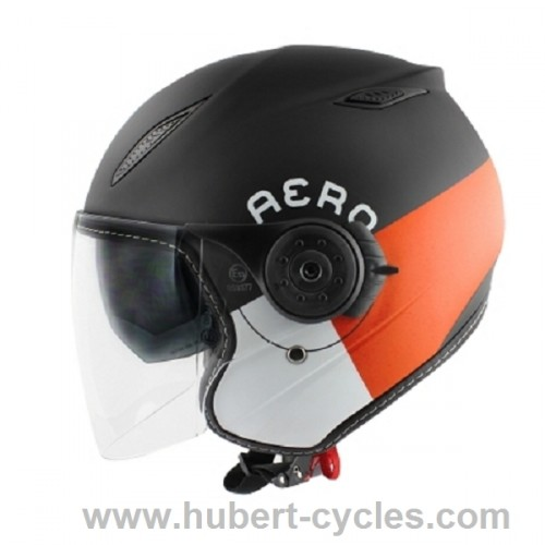 CASQUE JET TNT AERO REFLEX ORANGE DOUBLE