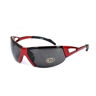 LUNETTES VELO ROUGE - VERRE FUME