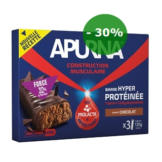 BARRE PROTEINE CACAO 3X40G