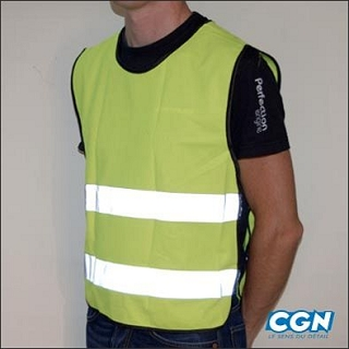GILET SECURITE FLUO VELO CYCLO ADULTE