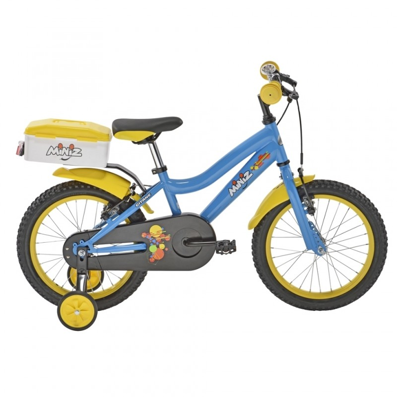 achat velo enfant miniz 16 pouces bleu hubert cycles. Black Bedroom Furniture Sets. Home Design Ideas