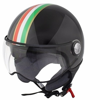 CASQUE 1/2 JET TNT PUCK ITALIA BLACK XS