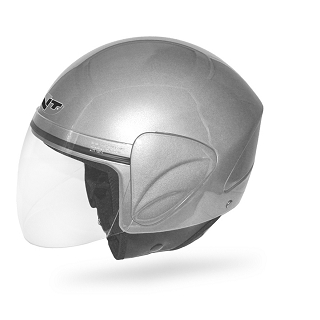 CASQUE JET+ECRAN POLY APOLLO GRIS BRILLA