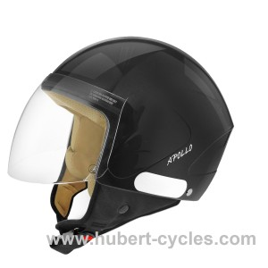CASQUE JET TNT APOLLO NOIR BRILLANT (LIN