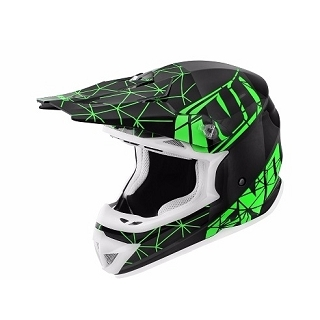 CASQUE CROSS NOEND ORIGAMI BLACK/GREEN S
