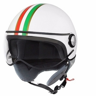 CASQUE 1/2 JET TNT PUCK ITALIA WHITE XL