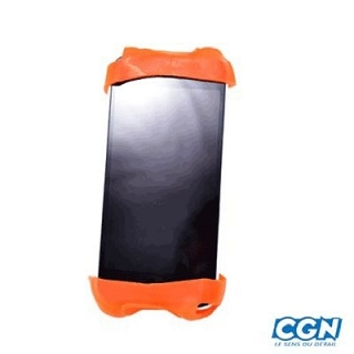 SUPPORT PHONE UNIVERSEL SILICONE ORANGE