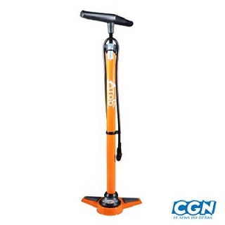 POMPE A PIED ACIER ORANGE MANO 11 BAR