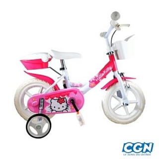 VELO ENFANT 12 HELLO KITTY ROSE