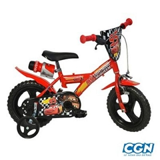 VELO ENFANT 12 CARS ROUGE