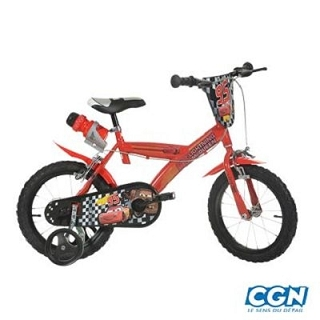VELO ENFANT 16 CARS ROUGE