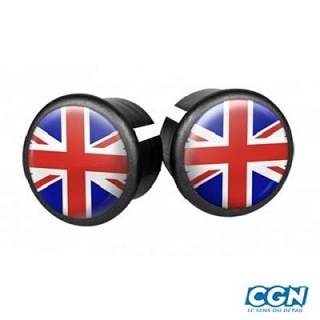 BOUCHON GUIDON ROUTE UNION JACK