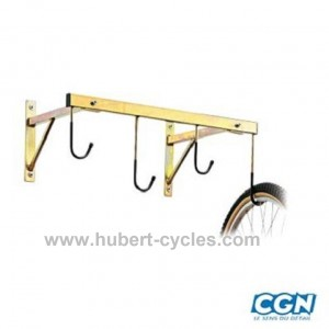 achat support velo mural 4 velos 76x45cm hubert cycles. Black Bedroom Furniture Sets. Home Design Ideas