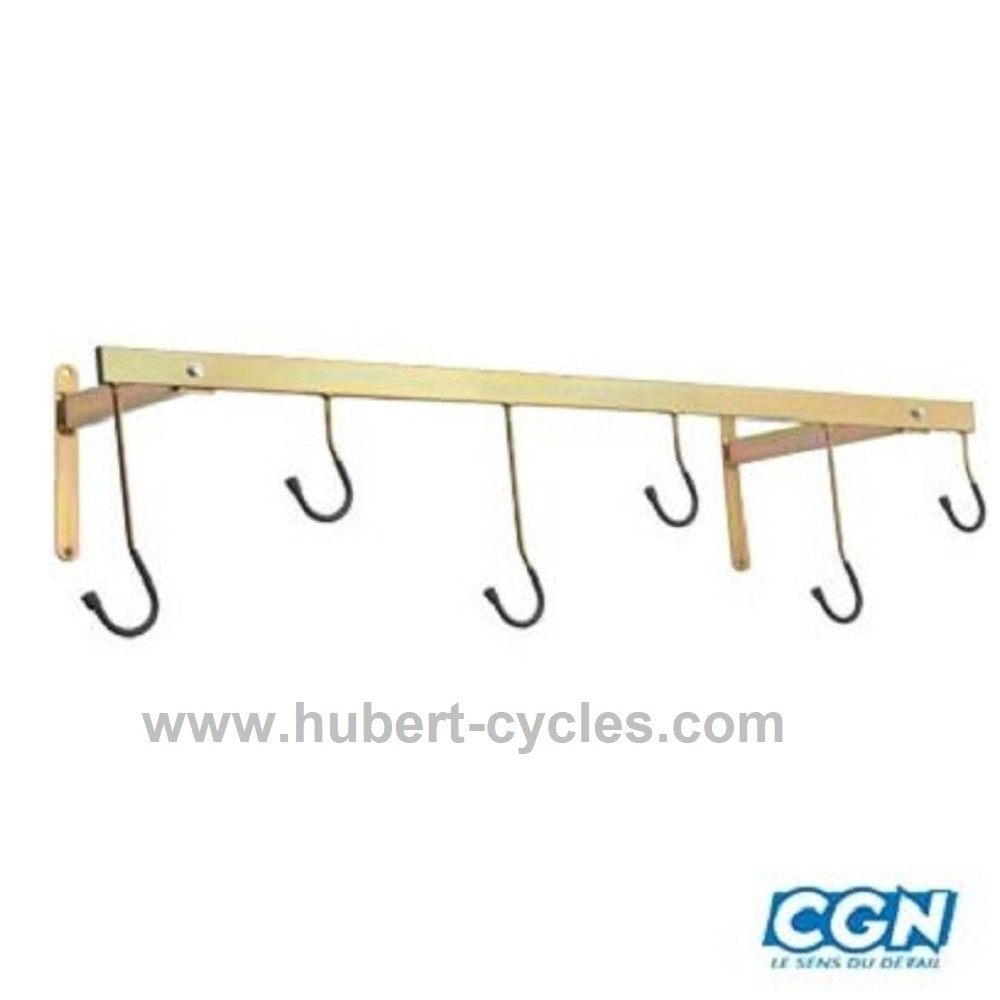 achat support velo mural 6 velos 126x45 hubert cycles. Black Bedroom Furniture Sets. Home Design Ideas