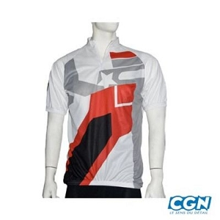 MAILLOT NO CONTEST MC TOP COOL BLANC S