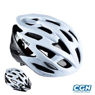 CASQUE ROUTE/VTT OPTIMIZ O-310 BLANC MAT