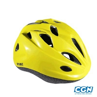 CASQUE ENFANT OPTIMIZ O-100 JAUNE MAT