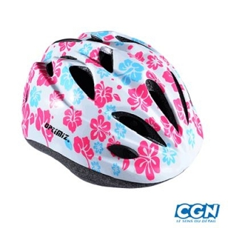 CASQUE ENFANT OPTIMIZ O-100 FLOWER BLANC