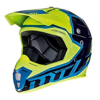 CASQUE CROSS MT SYNCHRONY SPEC BLEU/JAUN