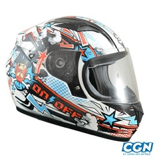 CASQUE INTEGRAL ENFANT ON OFF 17 CARTOON