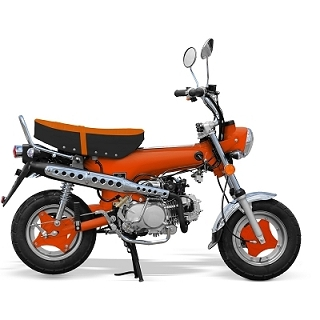 MINI MOTO CITY 50CC 4 TEMPS ORANGE EURO4