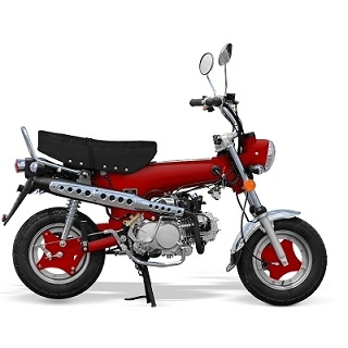 MINI MOTO CITY 50CC 4 TEMPS ROUGE EURO4