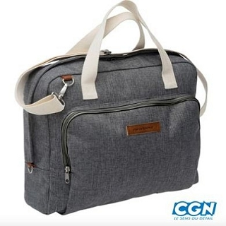 SACOCHE VELO PC PORTABLE 15 GRIS 16 5L